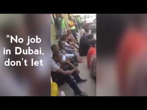 Nigerian man laments the lack of job opportunities in Dubai