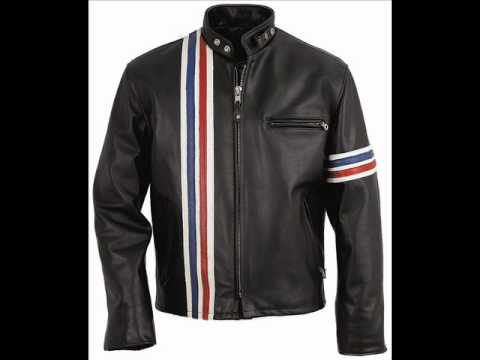 ee69abe1852 Easy Rider Striped Leather Motorcycle Jacket - YouTube