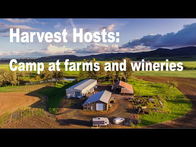 Camp with your RV at farms and wineries