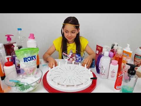 Çark'dan Ne Çıkarsa Slime Yap What Slime Wheel Slime, fun kid video