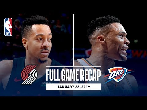 Full Game Recap: Trail Blazers vs Thunder   Paul George & Russell Westbrook Combine For 65 Points
