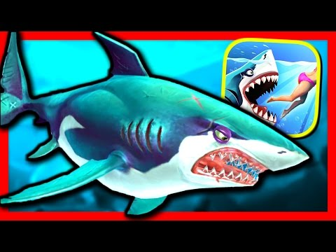 GREAT WHITE SHARK - Hungry Shark World - Part 9 - BIGGEST SHARK IN THE GAME?! (iPhone Gameplay)