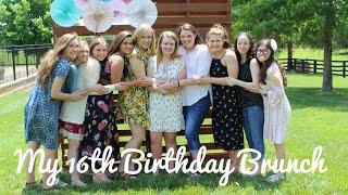 My 16th Birthday Brunch!!
