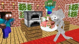 Monster School  Cooking Challenge   Minecraft Animation