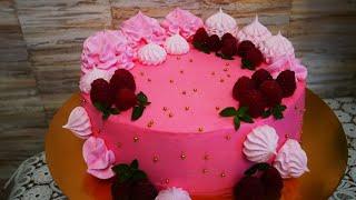 Украшение торта Крем для выравнивания торта КРЕМ ЧИЗ Рецепт БЕЗЕ Торт для девочки