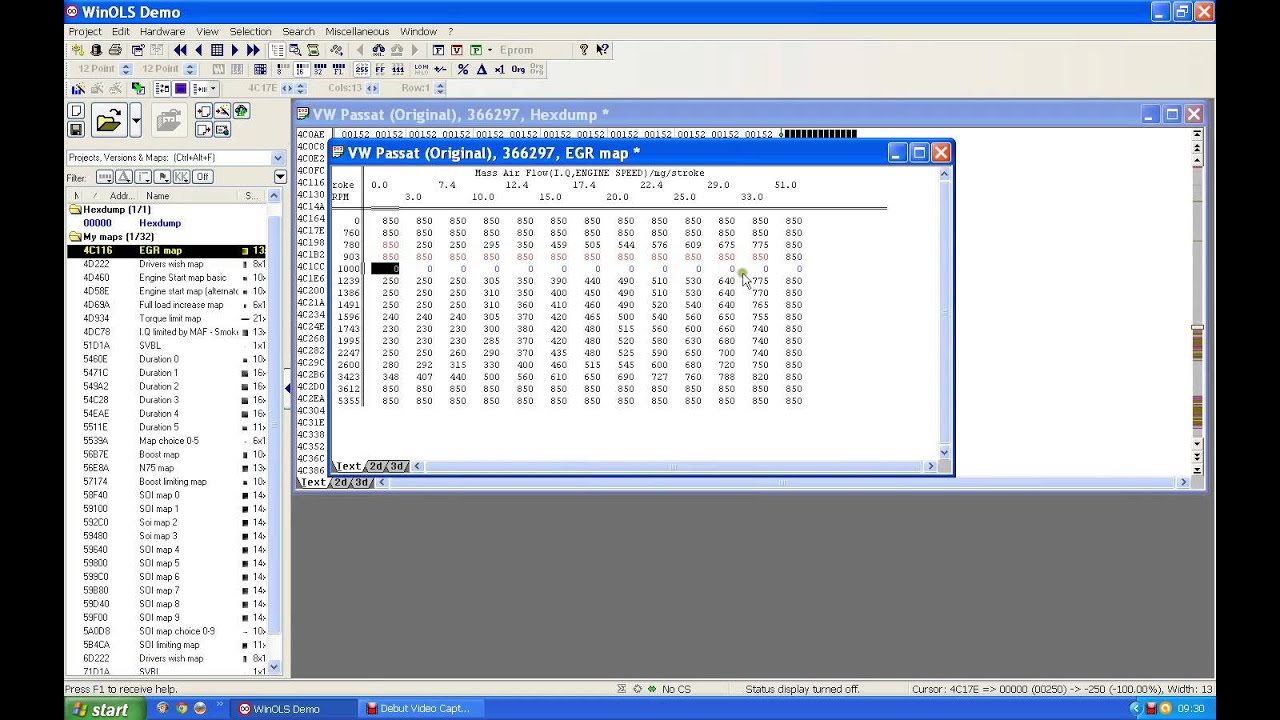 winols making map changes using egr example youtube rh youtube com ECU Mapping Tutorial ECU Mapping Software