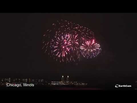 EarthCam NYE 2020 Fireworks Time-Lapse