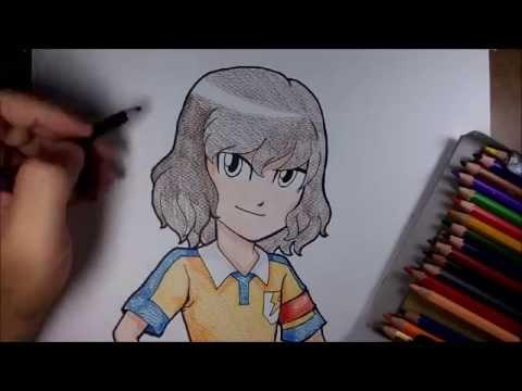 (speed drawing) สอนวาดรูป การ์ตูน ชินโด ทาคุโตะ จาก การ์ตูน นักเตะแข้งสายฟ้า go