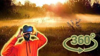 Панорамное Видео 360 VR 4K.Пробуждение природы. Туманное утро. Рассвет. Туман Samsung gear 360