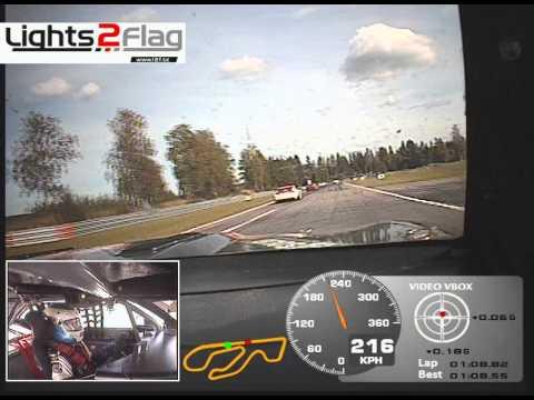Onboard Alx Danielsson - Race 2 Karlskoga Camaro, Round 4 2013 V8 Thunder Cars