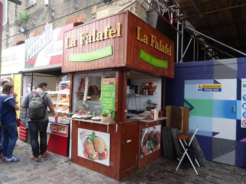Egyptian Street Food at the Smallest Falafel Wrap shop in the world, Camden Stables Market, London
