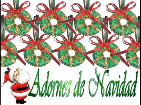 Como hacer coronas peque itas para el rbol de navidad - Como hacer coronas de navidad ...