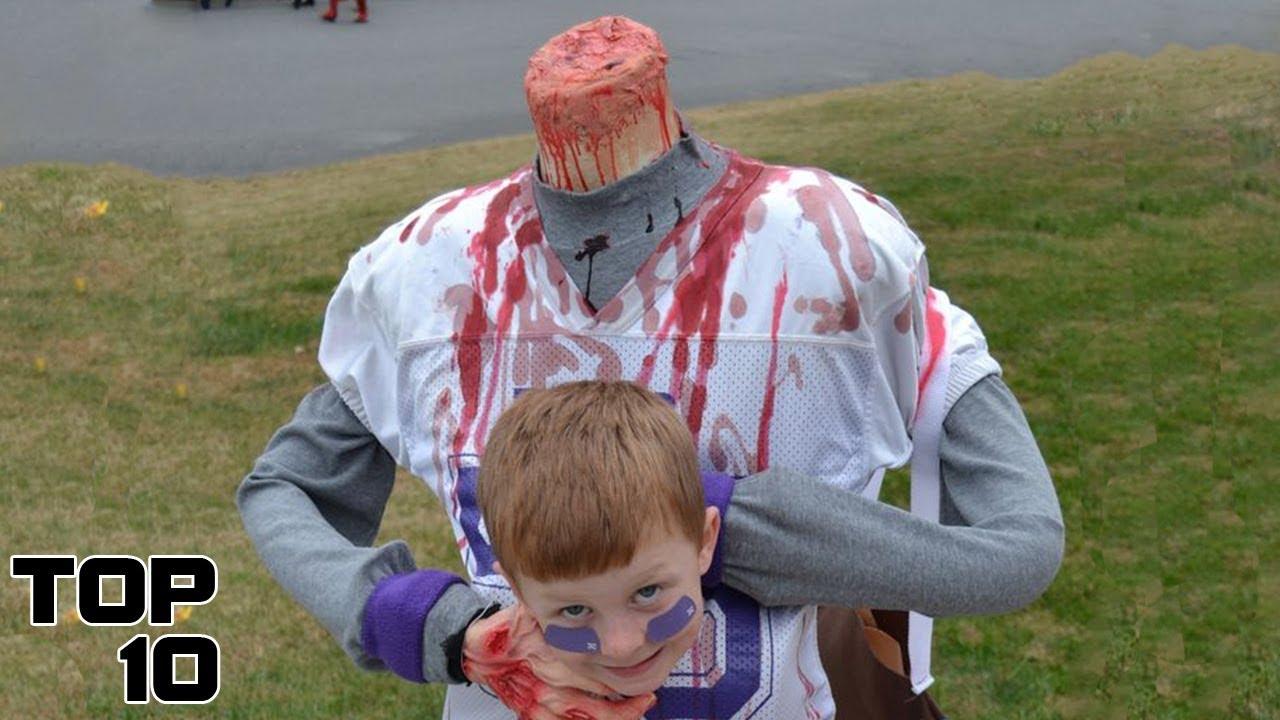 Top 10 SCARIEST Kids Halloween Costumes - YouTube