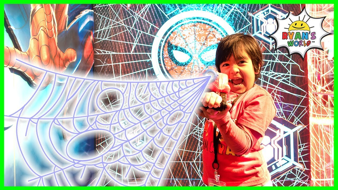Spiderman Web Sling Superheroes and Transformers with Ryans World!!!