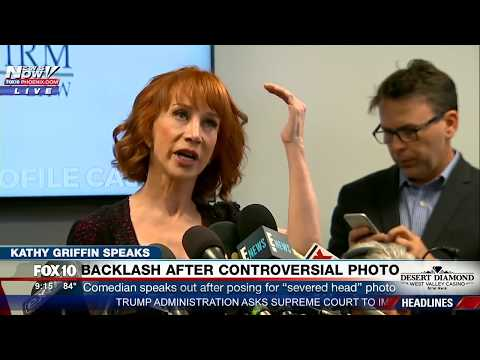 FULL Kathy Griffin Press Conference on Severed Trump Head Photo  MUST WATCH FNN