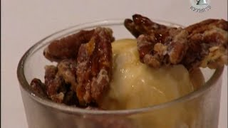 Десерт из кофе, орехов и мороженого