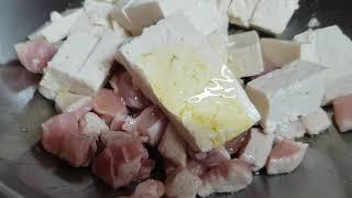 돼지고기넣고 마파두부 Tofu dish with por…