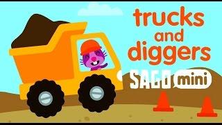 Sago Mini Trucks and Diggers   Саго Мини - Маленькие Строители - Развивающий мультик (ИГРА)