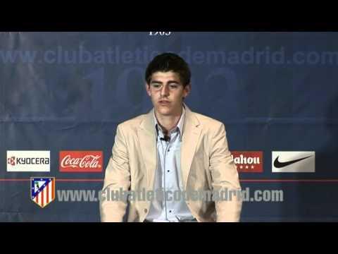 Presentación de Thibaut Courtois como portero del Atletico de Madrid