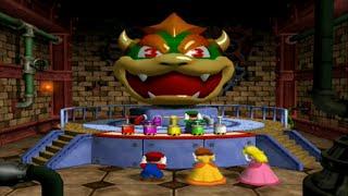 Mario Party 4 - Minigames - Battle - Bowser Bigger Blast