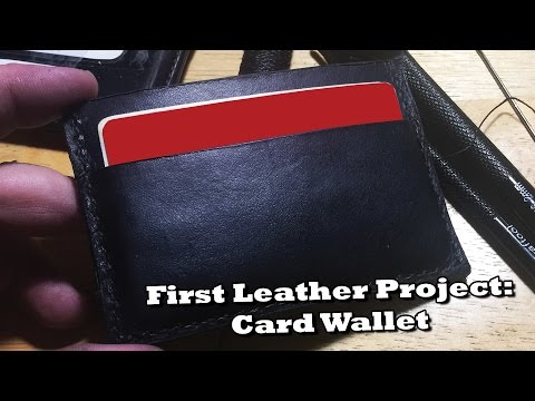 DIY Leather Card Wallet In An Evening