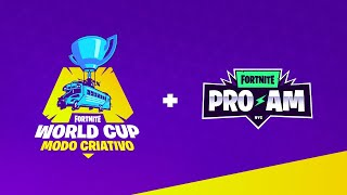 #MundialFortnite - Dia 1: Finais Mundial Criativo + Celebrity Pro-AM