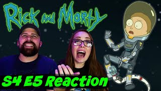 """Rick and Morty S4 E5 """"Rattlestar Ricklactica"""" Reaction & Review!"""