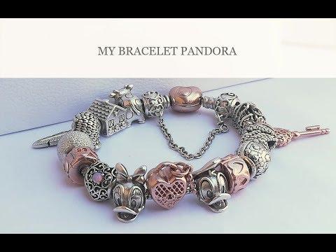 bracciale pandora con charms rosa