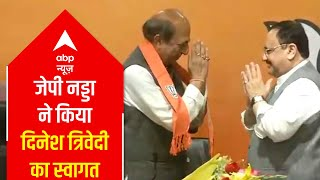 JP Nadda welcomes Dinesh Trivedi in the party