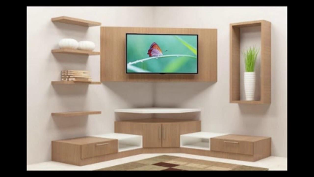 Corner tv cabinet interior design - Wall showcase designs for living room ...