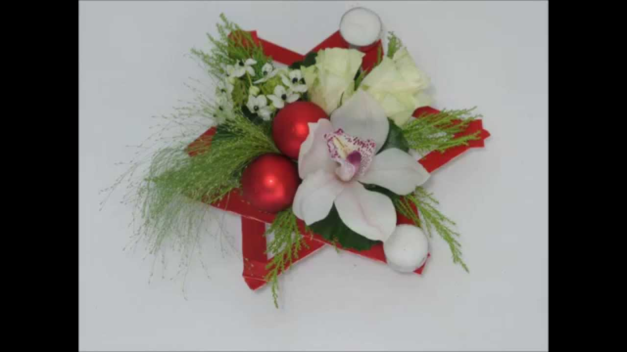 2015 diy tutoriel centre de table no l carr ment - Composition florale de noel originale ...