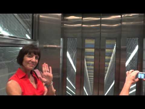 Interesting Incline elevator @ Cityplace Dart Station Dallas TX w Gluse