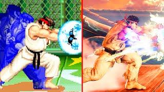 Evolution of Ryu's Shinku Hadoken (1994-2020)