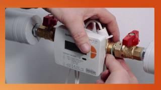 Installare correttamente il contatore di calore filettato Q heat 5 di QUNDIS