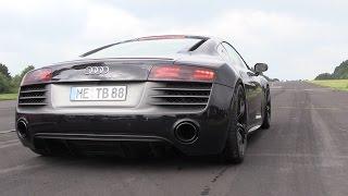 LOUD Audi R8 V10 - Launch Controls & Drag Racing!