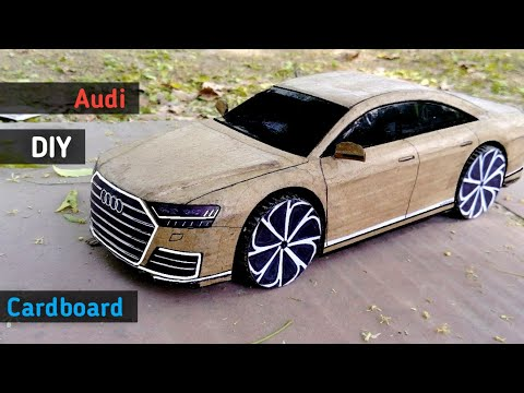 How to make a  Car | Audi A8 2018 |Cardboard Rc Car | Diy Cardboard Cars | RC Toy | RC Cars