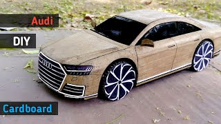 How to make a  Car | Audi A8 2018 |Cardboard Rc Car | Diy Cardboard Cars | RC Toy | RC Cars