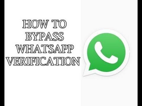 How to bypass whatsapp verification code