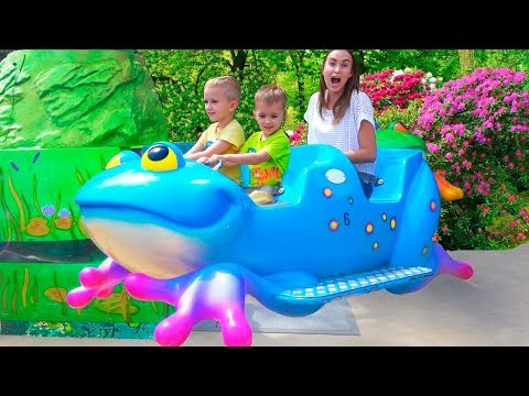 Best Outdoor Playgrounds for kids Amusement park Funny playtime with Vlad Family