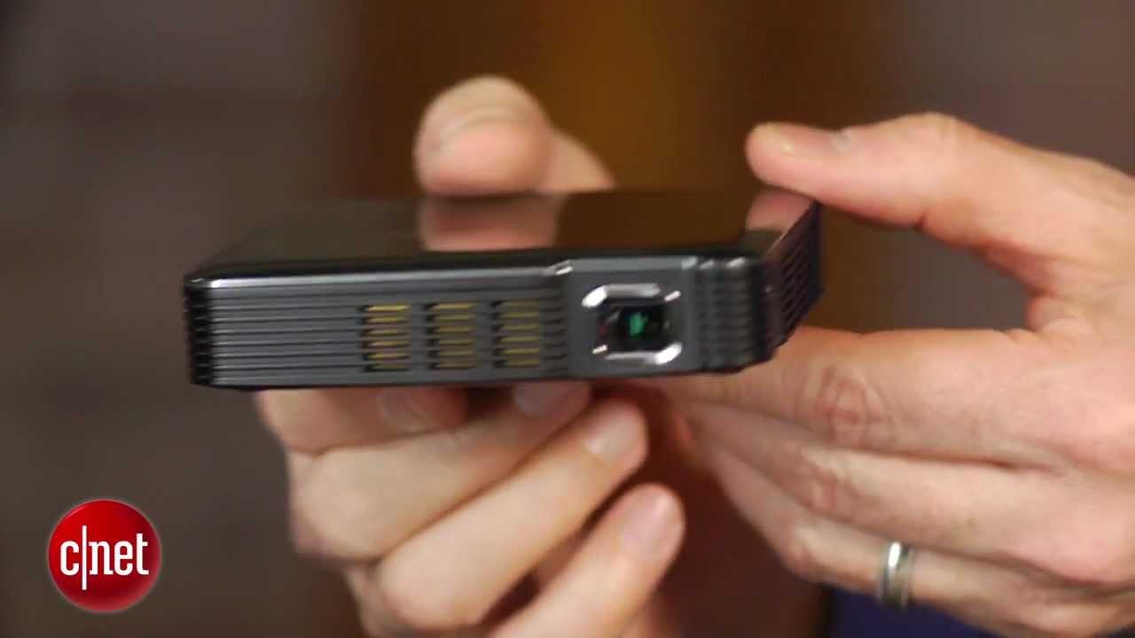 307c135d8b5839 Brookstone's mini projector plays big - YouTube