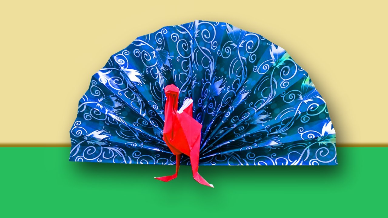Superior Peacock Craft Ideas For Kids Part - 14: Paper Craft Ideas For Kids || How To Make Paper Peacock || Peacock Craft  Work