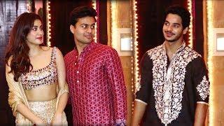 Jhanvi Kapoor IGNORE Ishaan Khattar At Amitabh Diwali Party