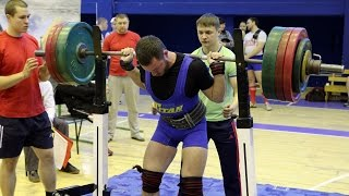 Powerlifting. Squat with a barbell