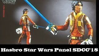 Hasbro Star Wars Black Series and Vintage Collection Panel from SDCC 2018