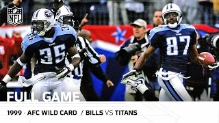 music city miracle 1999 afc wild card playoffs   bills vs titans full game   nfl