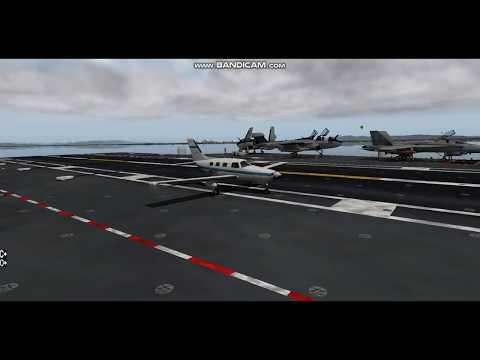 Piper Malibu landing to Aircraft carrier USS Nimitz from KOBE airport RJBE