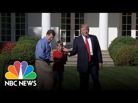 Kid Landscaper Mows White House Lawn, Meets Donald Trump | NBC News