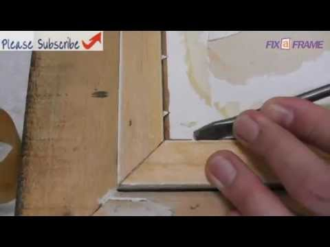 How To Remove Old Picture From A Picture Frame Youtube