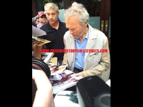 Meeting Clint Eastwood! Dirty Harry Himself Signing Autographs for us in New York City in 2014!