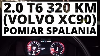 Volvo Xc90 2.0 T6 320 Km (At) - Pomiar Spalania